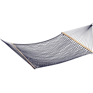 Wooden Bar Poly /Cotton Netting Hammock
