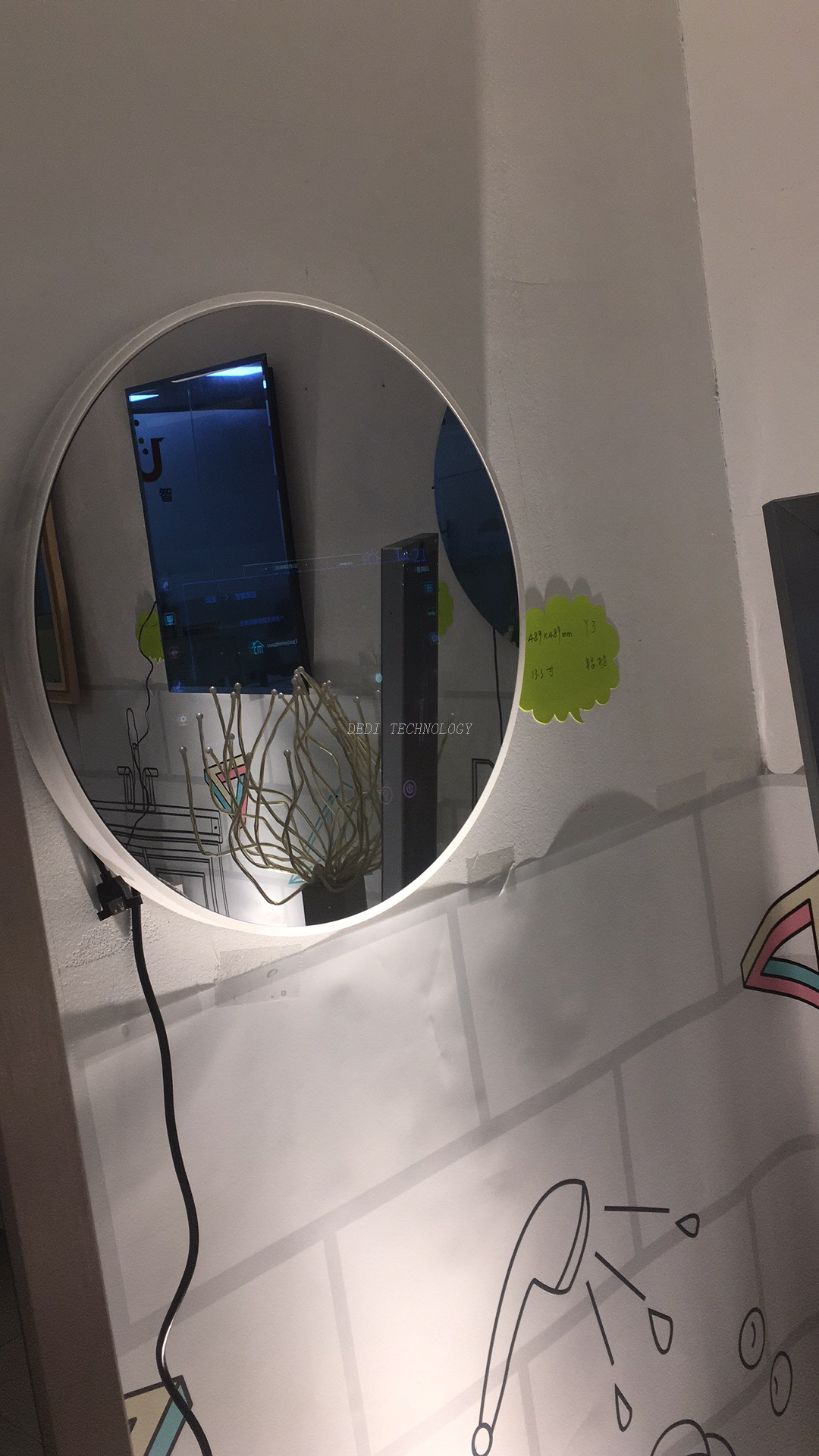 Smart Mirror with Touch Screen Home Automation Voice Recognition Functions
