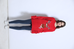 Wholesale children ugly christmas sweater custom with led lights