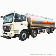 Foton Aluminum Alloy Fuel Tanker (8X4Mobile Oil Refueling Bowser Truck 30cbm Diesel Delivery Refueling Truck 12wheels)