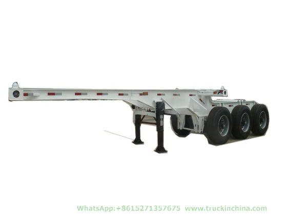 Customized Interlink 2 Flatbed Semi Trailer Truck (Double Combination 20FT Container Trailers Flatbed Or Skeleton Type)