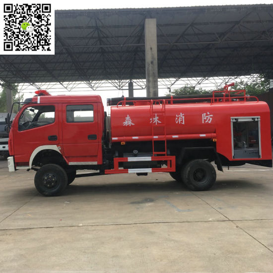 4X4 All Wheel Drive Water Tank Fire Truck