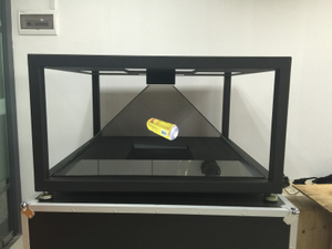 China pyramid 3D Holographic Pyramid Display Showcase for exhabition