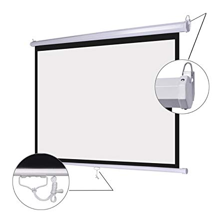 120'' Buy Manual Wall Projection Screen Pull Down Projector Screen 16:9 in China