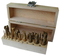SET END MILLERS WITH WOODEN CASE