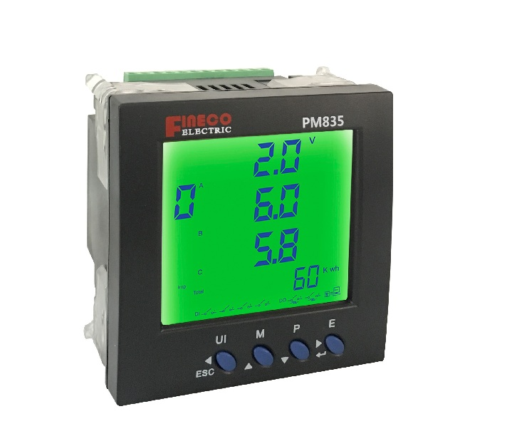 PM835 programmable digital panel meter digit power meter panel panel meter in energy meter