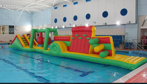 Colorful Inflatable Floating Water Game Obstacle Course
