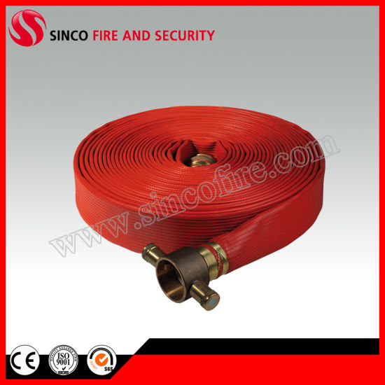 "2"" Red Duraline Synthetic Rubber Fire Hose"