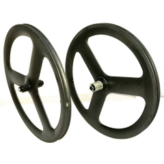 20 inch bmx tri spoke carobn wheels 451 carbon wheels