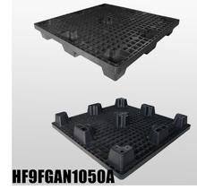 L1050W1050H140mm Plastic Pallet With 9 FeetNestableopen Deck