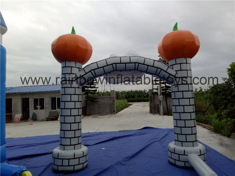 RB21044(3.5x3.5m)Inflatable Smiling Pumpkin Arch For Warm Welcome