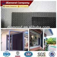Aluminum window black powder coated stainless steel security screen