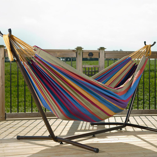HOT SALES Cotton /Poly Hammock With Adjustable Stand