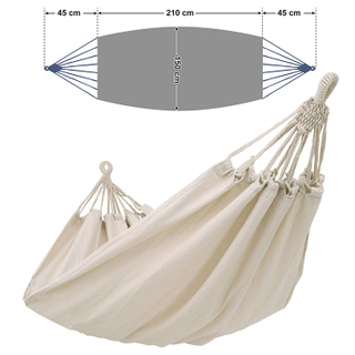 AZO Free Lead Free Patio Cotton Polyester Hammock Swing Bed