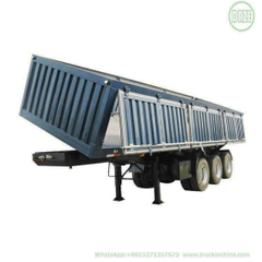 Customizing 24cbm Heavy Duty 3 Axle Side Tipper Trailer