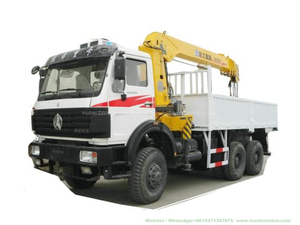 Beiben off Road Crane Truck with 10t Telescopic Boom (6X6 Trucks Mounted Crane)