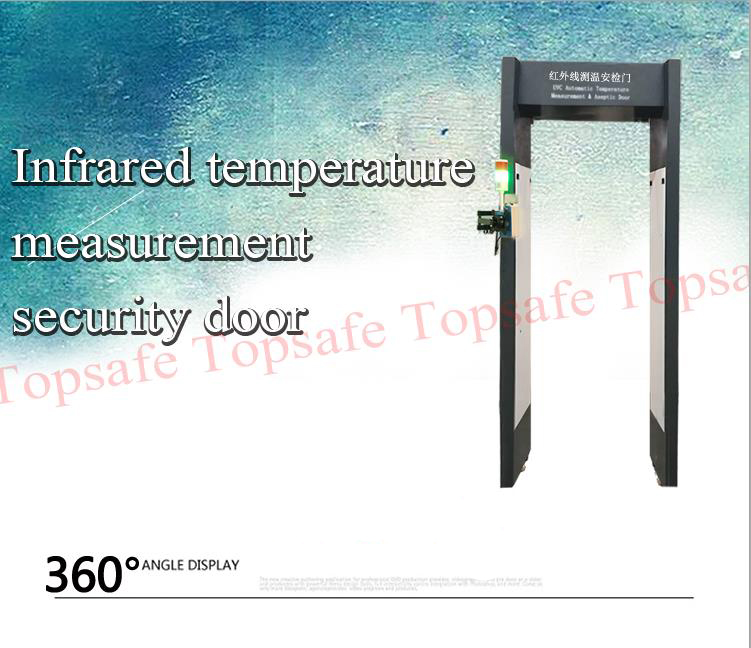 Automatic Infrared Temperature Measuring Safety Door For Human Body