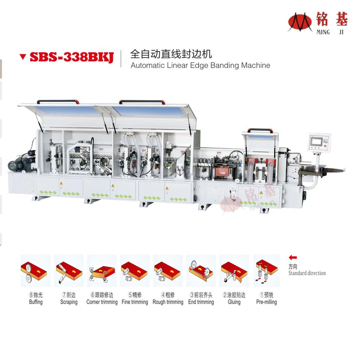 Foshan Mingji SBS-338BKJ Automatic egde banding machine with premilling