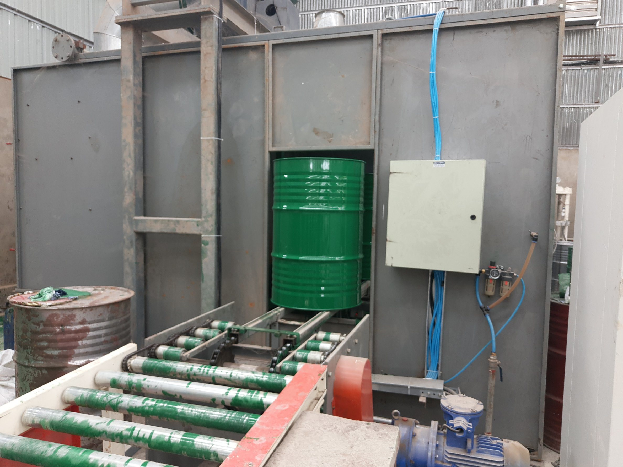 Steel Barrel Painting Spray Booth For Standard Barrel