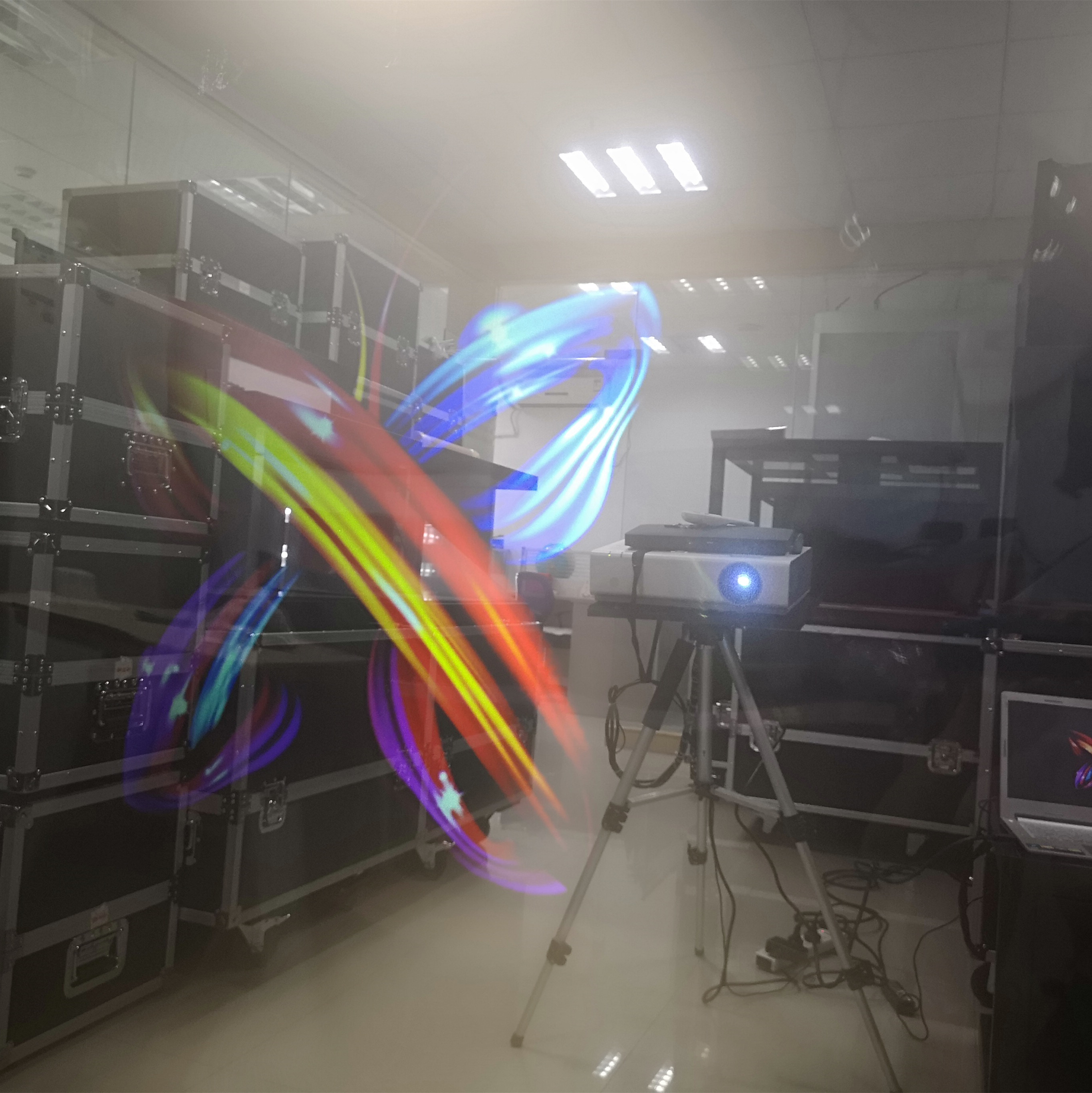 Transparent rear projection film Clear 3D Holographic for advertising