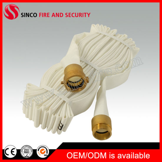 Ageing Resistance Lined Cotton Canvas Fire Hose
