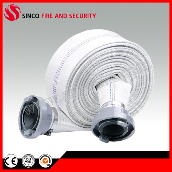 Single Jacket Fabric Fire Hose with Nh Fire Hose Coupling
