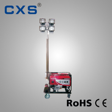 Gasoline / Diesel Light Tower , Portable 4 × 500w Explosion Proof Light Towers