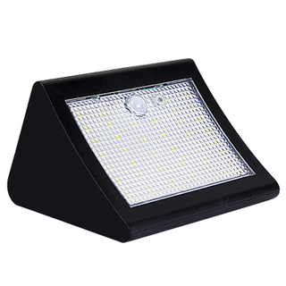 Waterproof Solar Powered LED Solar Garden Lamp Motion Sensor Large C Corner 38 LED Wall Decoration Light