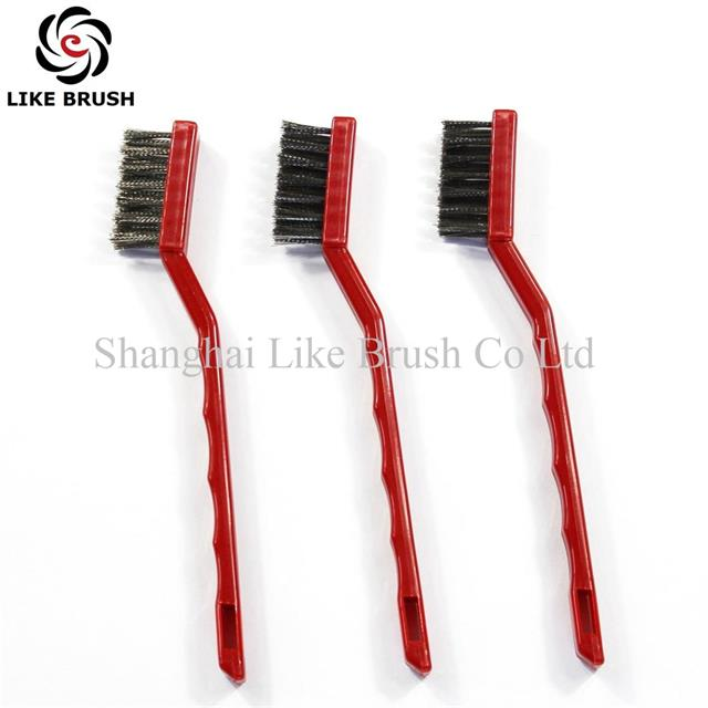 Medical Instrument Cleaning Brushes Red Handle