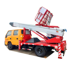 Truck Mounted Telescopic Ladder Truck for House Building Goods Lift and Download (House Furniture Moving Cherry Picker Hydraulic 28 M Aerial Platform Ladder)