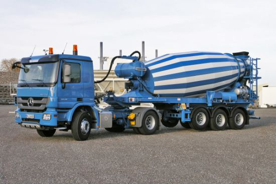 Transit Mixer Tank 10m3-12m3 Concrete Mixer Trailer (2 axles / 3 axles Concrete Mixer Drum Semi-Trailer)