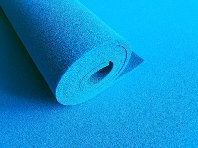 silicone sponge rubber sheet blue open cell-030_副本