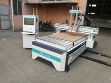 Two heads woodworking cnc router machine