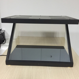 180 °China pyramid 3D Holographic Pyramid Display Showcase Transparent display box