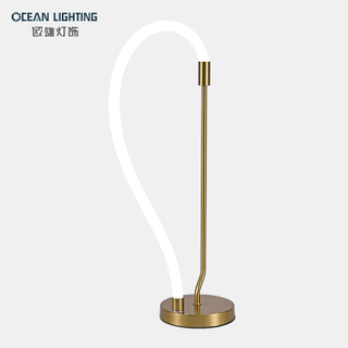 Nordic simple light luxury creative living room silicone tube lighting table light