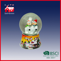 Christmas Snowman Figures Water Globe with Blowing Snow for Holiday Decoration Home Decoration