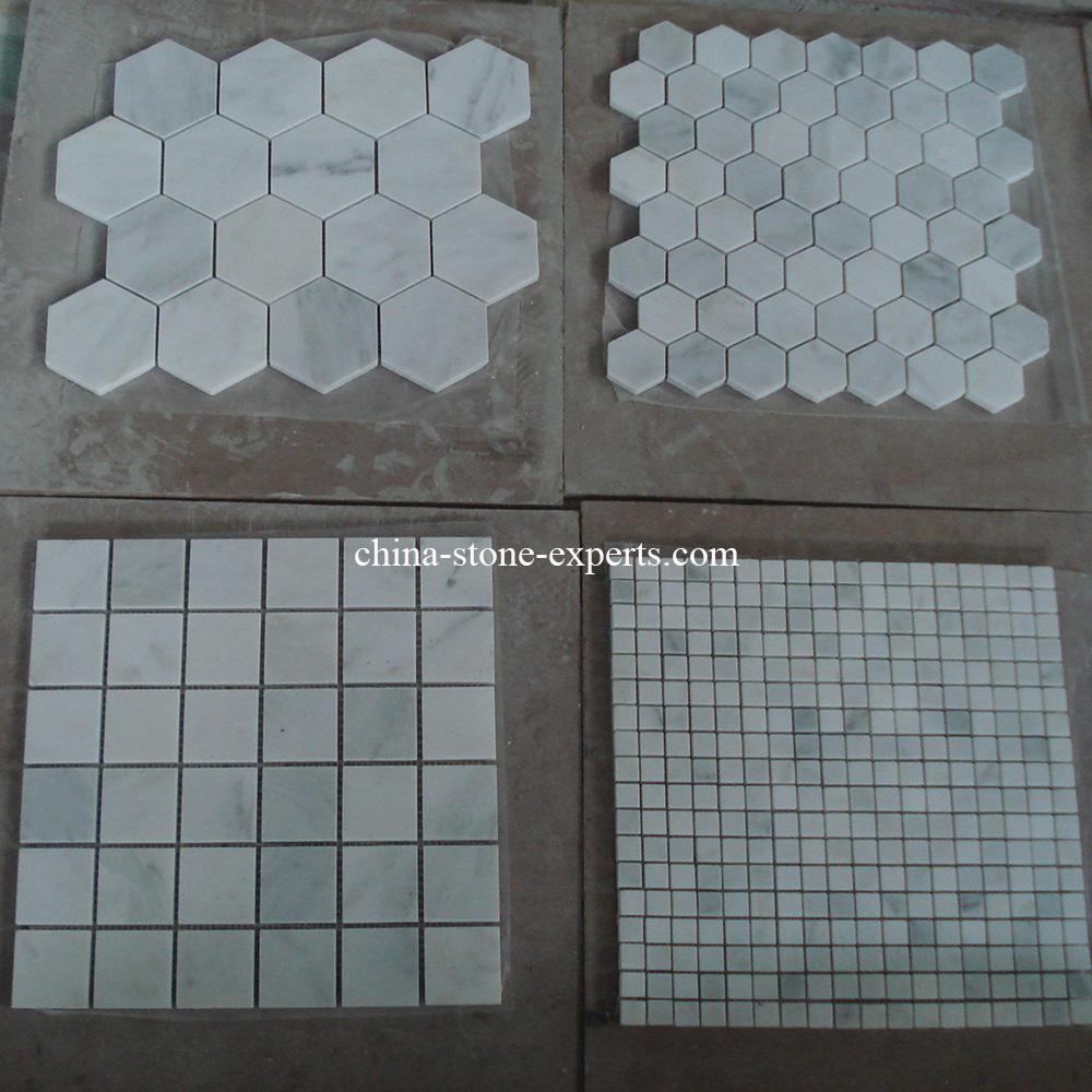 El azulejo de mosaico de piedra de m rmol blanco para la for Material parecido al marmol