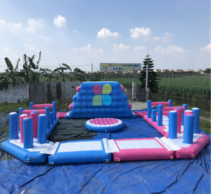 Nice exciting SGS pvc material inflatable floating water park for sale RB34003 10X10