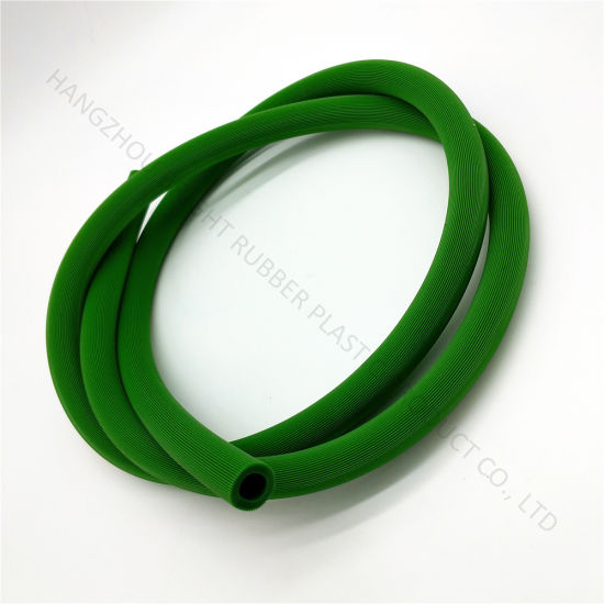 Food Grade Silicone Extrusion Green and Red Tube
