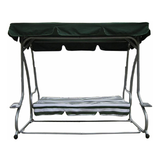 Iron Steel Frame Swing Bed Chair With Cushion