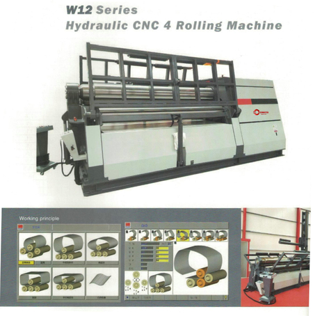 W12 SERIES HYDRAULIC CNC 4 ROLLING MACHINE