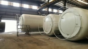 Hydrochloric Acid Storage Tank 100m3 for Storage HCl (max 35%) , Naoh (max 50%) , Naclo (max 10%) , PAC (max 17%) , H2so4 etc