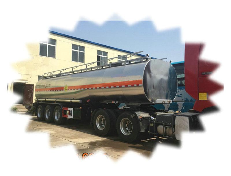 30 Tons LNG / LPG Tank Trailer For Flammable Liquid