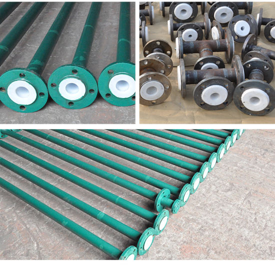 Steel Lined PE (PTFE / PP /PO) Pipe for Chemical Factory