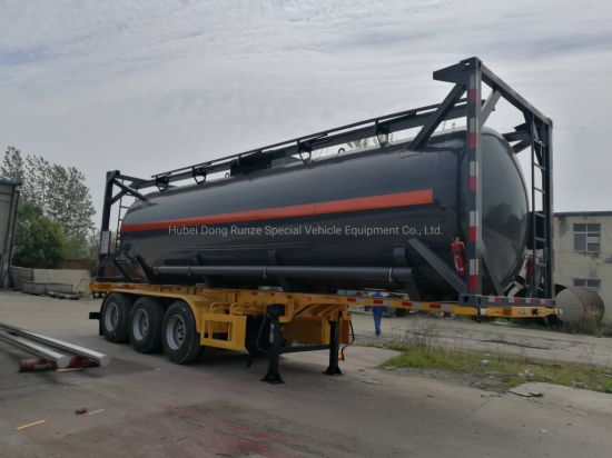 Customized Sodium Hypochlorite Tank Container 30FT Naclo (LDPE Lined Tank Container)