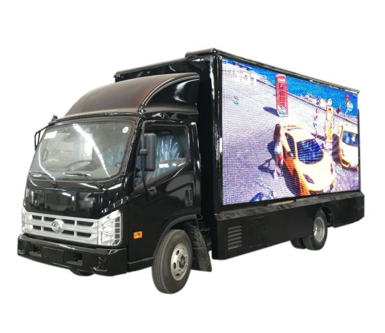 P6 Outdoor Mobile LED Billboard Truck Forland (Vehicle Mounted LED Screen) for Advertising P8. P10 Full Color Screen, 4800X2080mm