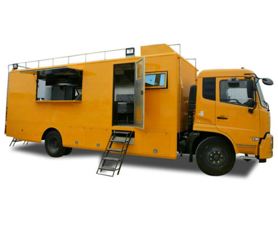King Run Mobile Fast Food Truck for Military Troops Field Cooking 4X2 Optional Offroad 4X4
