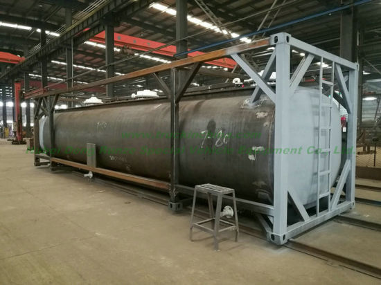 Custermizing Road ISO Tank Containers 40FT for Liquid Caustic Soda (Naoh Max 50%; Bleach Naocl 15% and Acid HCl 35%, 26000L-40, 000L
