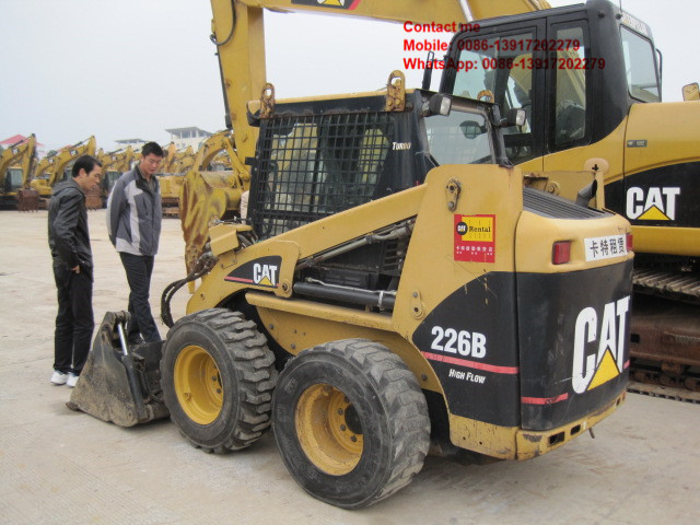 Caterpillar 226B skid steer loader cheap used on sale in Shanghai