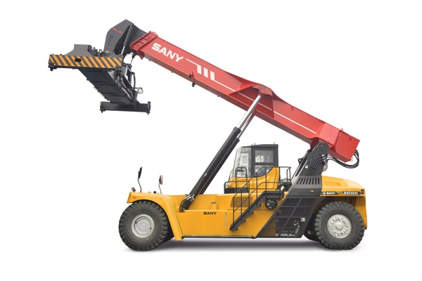 SANY 45ton Reach Stacker RSC45H4 Participates in Construction of Incheon New Port, South Korea